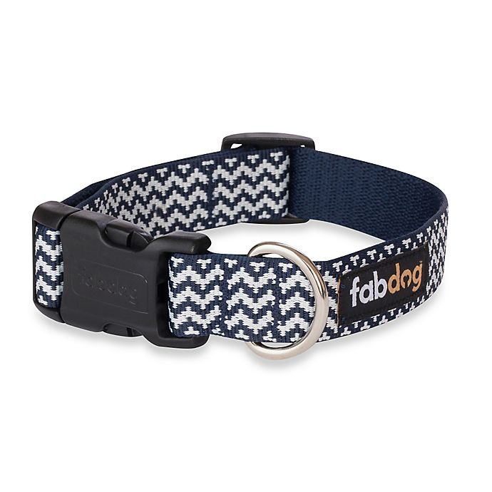 Alternate image 1 for Fab Dog Large Chevron Collar in Navy