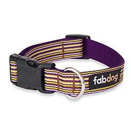 Fab Dog® Medium Striped Collar in Purple