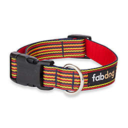 Fab Dog® Small Striped Collar in Red
