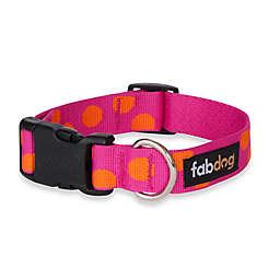 Fab Dog® Medium Polka Dot Collar in Pink