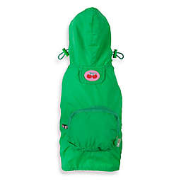 Fab Dog® Travel Cherry Raincoat in Green