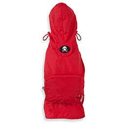Fab Dog® Travel Skull Raincoat in Red