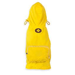 Fab Dog Travel Argyle Raincoat in Yellow