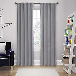 Eclipse Microfiber Rod Pocket 84-Inch Room Darkening Window Curtain Panel in Grey
