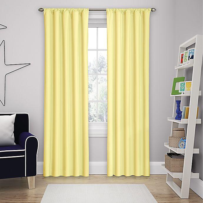 Alternate image 1 for Eclipse Microfiber Rod Pocket Room Darkening Window Curtain Panel