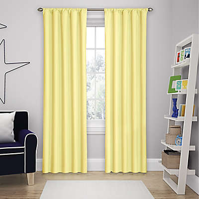 Solar Shield Microfiber Rod Pocket Room Darkening Window Curtain Panel