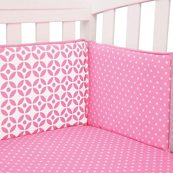 Alternate image 1 for Trend Lab® Lily 4-Piece Crib Bumper Set