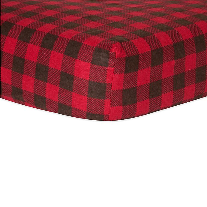Trend Lab 174 Northwoods Fitted Flannel Crib Sheet In Buffalo