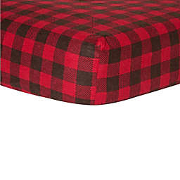 Trend Lab® Northwoods Fitted Flannel Crib Sheet in Buffalo Check