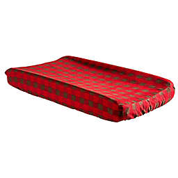 Trend Lab® Northwoods Buffalo Check Flannel Changing Pad Cover in Brown/Red