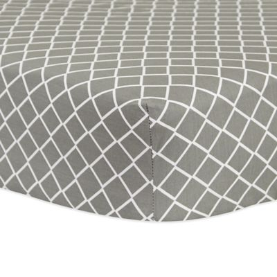 Trend Lab 174 Diamond Fitted Crib Sheet In Grey Buybuy Baby