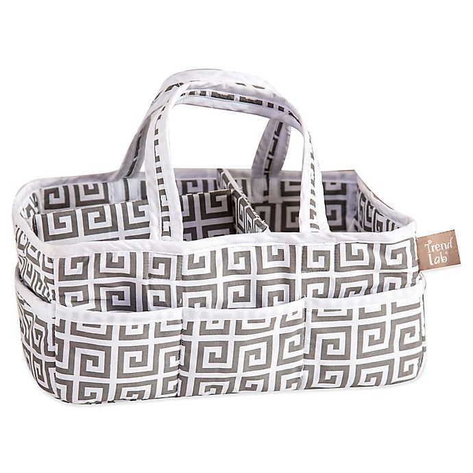 Alternate image 1 for Trend Lab® Ombre Grey Greek Key Diaper Caddy