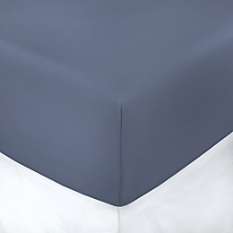 600-Thread-Count Cotton Sateen King Fitted Sheet