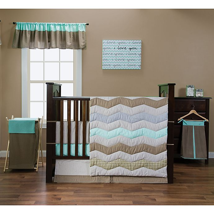 Trend Lab 174 Cocoa Mint Bedding Collection Buybuy Baby
