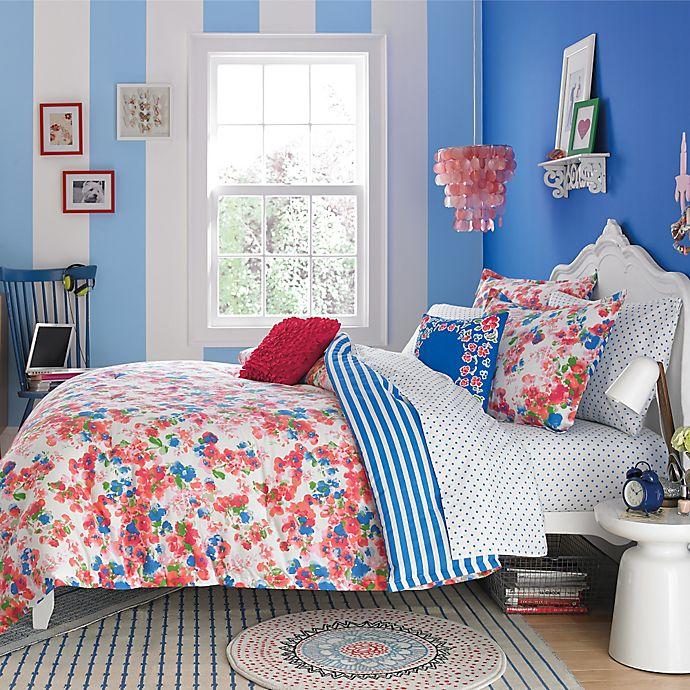 Teen Vogue® Rosie Posie Reversible Comforter Set in Red/Blue