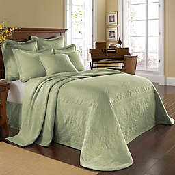 Historic Charleston Collection Matelassé King Bedspread in Sage