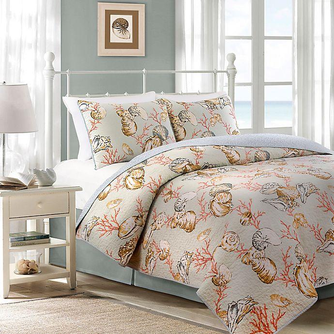Alternate image 1 for Oceanside Cottage Reversible Quilt Set