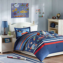 Mizone Kids Space Cadet Comforter Set in Blue