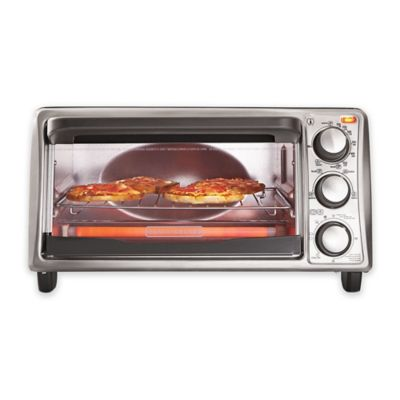 Black Amp Decker 4 Slice Toaster Oven Bed Bath And Beyond