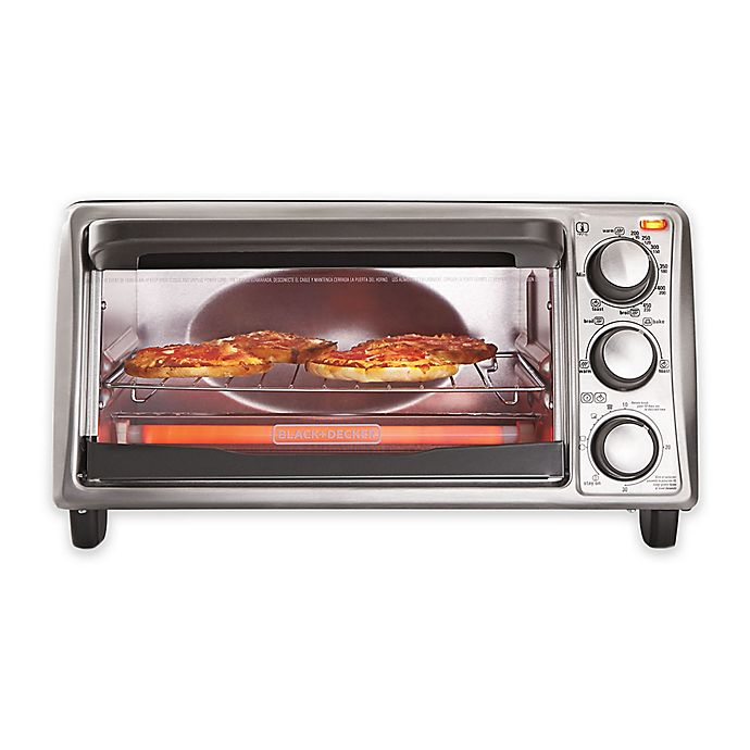 Alternate image 1 for Black & Decker™ 4-Slice Toaster Oven