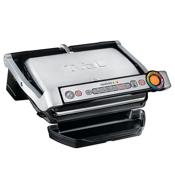 Alternate image 1 for T-Fal® OptiGrill+™ Stainless Steel Indoor Electric Grill