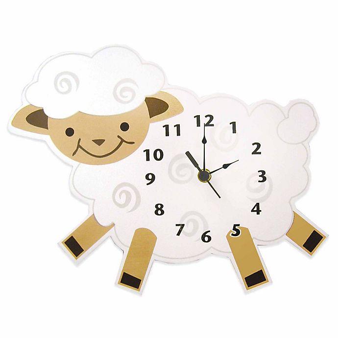 Alternate image 1 for Trend Lab® Baby Barnyard Lamb Wall Clock