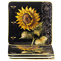 Certified International French Sunflower Salad Plates (Set of 4)