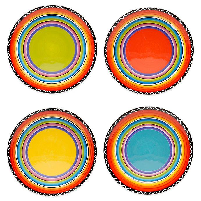 Alternate image 1 for Certified International Tequila Sunrise Salad Plates (Set of 4)
