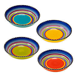 Certified International Tequila Sunrise Soup/Pasta Bowls (Set of 4)