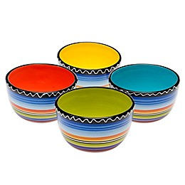 Certified International Tequila Sunrise Ice Cream Bowls (Set of 4)