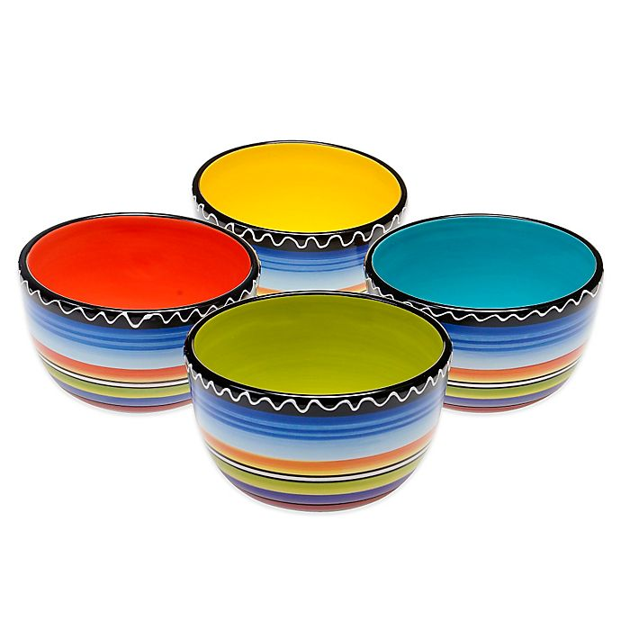 Alternate image 1 for Certified International Tequila Sunrise Ice Cream Bowls (Set of 4)