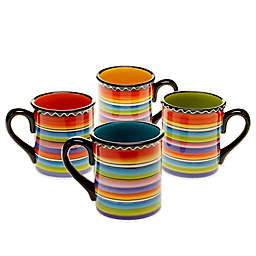 Certified International Tequila Sunrise Mugs (Set of 4)