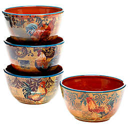 Certified International Rustic Rooster Assorted Ice Cream Bowls (Set of 4)