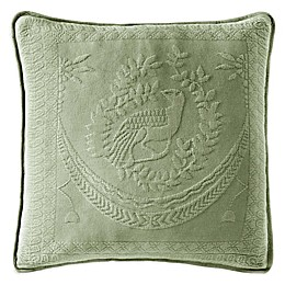 Historic Charleston Collection Matelassé 20-Inch Square Throw Pillow in Sage