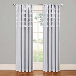 SolarShield® Rihanna Rod Pocket Room Darkening Window Curtain Panel