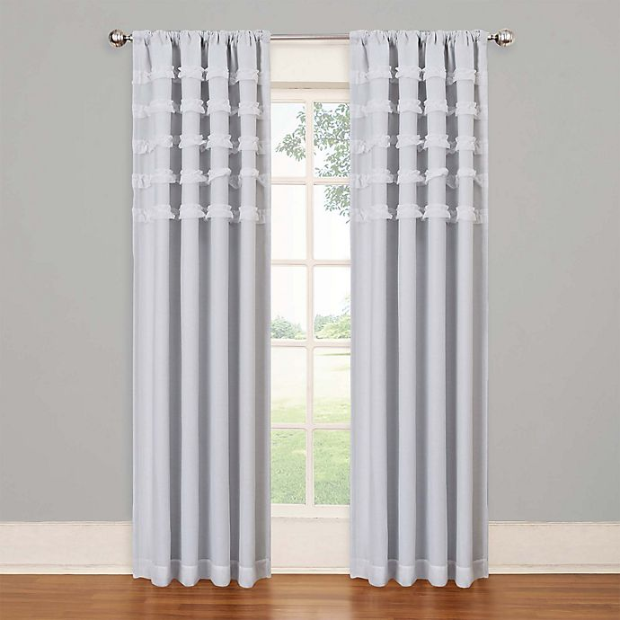 Alternate image 1 for SolarShield® Rihanna Rod Pocket Room Darkening Window Curtain Panel