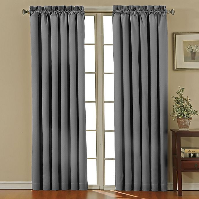 Alternate image 1 for Eclipse Canova Rod Pocket -Inch Room Darkening Window Curtain Panel