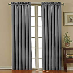 Eclipse Canova Rod Pocket 63-Inch Room Darkening Window Curtain Panel in Charcoal
