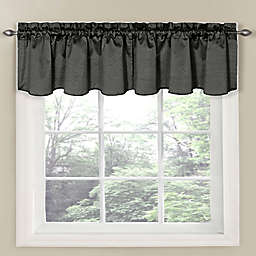 Eclipse Carmen Room Darkening Window Curtain Valance in Charcoal