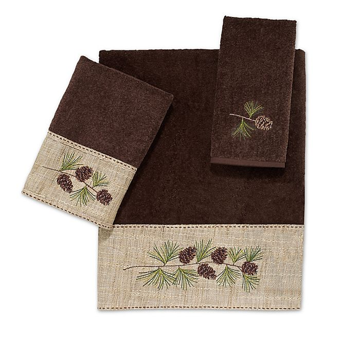 Alternate image 1 for Avanti Pine Branch Bath Towel Collection in Mocha