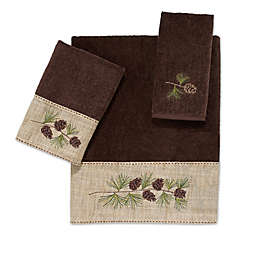 Avanti Pine Branch Bath Towel Collection in Mocha