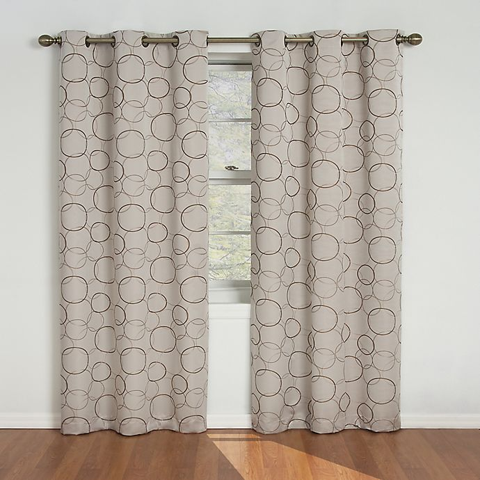 Alternate image 1 for SolarShield® Sphere Grommet Top Room Darkening Window Curtain Panel