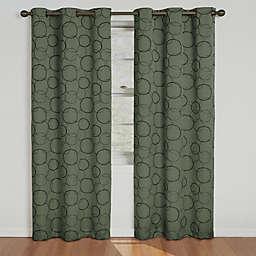 Eclipse Meridian Grommet Top 63-Inch Room Darkening Window Curtain Panel in Sage