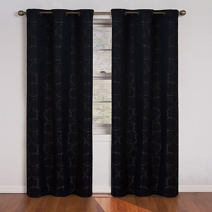 Alternate image 1 for Eclipse Meridian Grommet Top 63-Inch Room Darkening Window Curtain Panel in Black