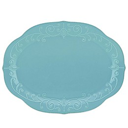 Lenox® French Perle 16-Inch Oval Platter in Robins Egg
