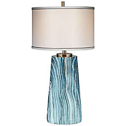 Amador Table Lamp in Natural with Satin Shade