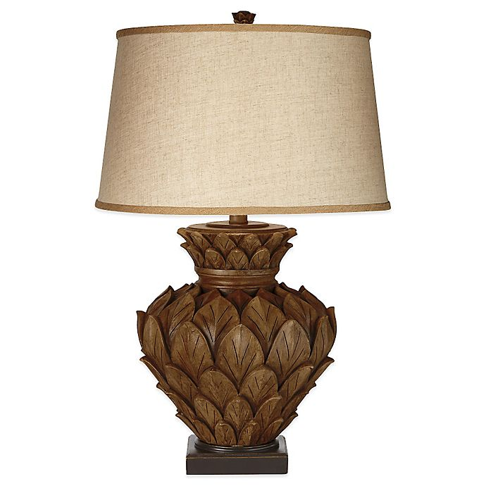 Artichoke Square Base Table Lamp In Brown Bed Bath Beyond