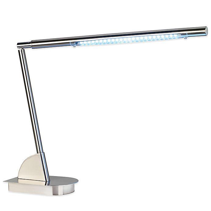 48 Light Led Work Station Base Desk Lamp In Brushed Nickel