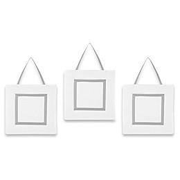 Sweet Jojo Designs Hotel Wall Décor in White/Grey (Set of 3)
