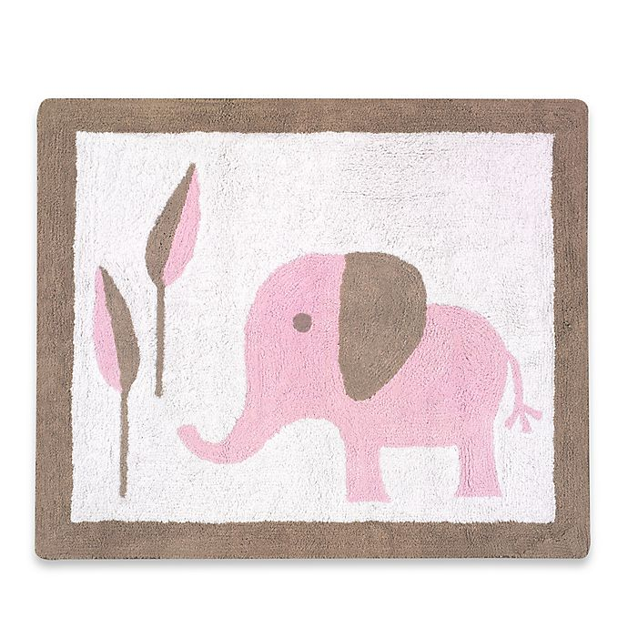 Buy Sweet Jojo Designs Mod Elephant Rug In Pink/Taupe From